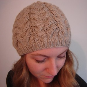 Plume Cable Knit Hat Pattern